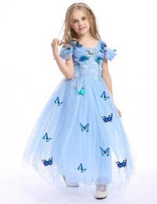 Cinderella Costume Dress with Butterfly