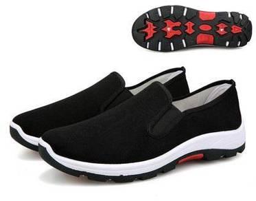 F0267 Breathable Black Hiking Slip On Kasut Shoes