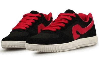 F0244 Black Red Sneakers Kasut Skateboard Shoes