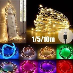 USB LED Fairy light string ( copper )