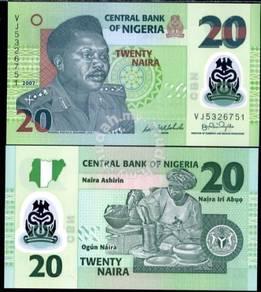 Nigeria 20 naira 2013 polymer unc