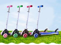 Toy Foldable 4 Wheels Scooter Kids Children