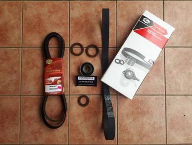 Saga flx timing belt and fan belt replace