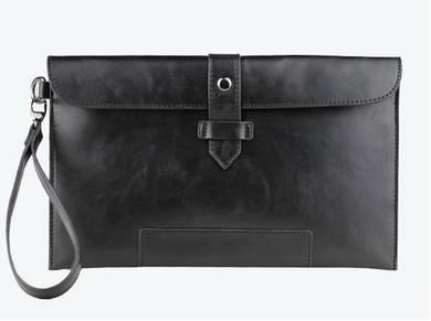 MBH328 Business Clutch Bag Men Long Wallet - Black