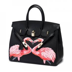 Handbag bag slingbag black flamingo RBHB015