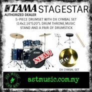 Tama Stagestar Complete Drum Set With Cymbals-Blue