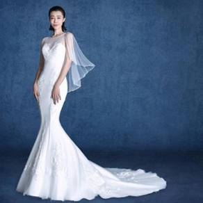 White wedding prom gown dress photoshoot RB556
