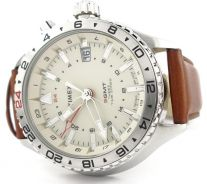 Timex watch GMT Time Zones Leather