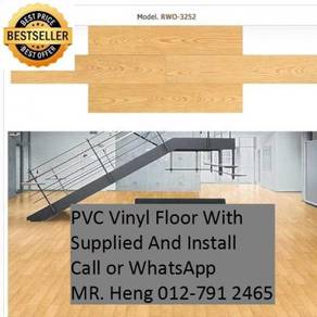 Natural Wood PVC Vinyl Floor - With Install 9uo07