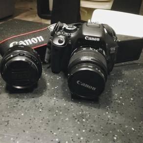 Canon 600d + 18-55mm kit lens + Canon 50mm 1.8 len