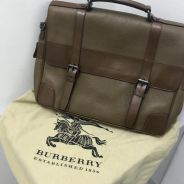 Burberry leather briefcase (Authentic)