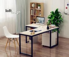 Simple L Shaped Study Table