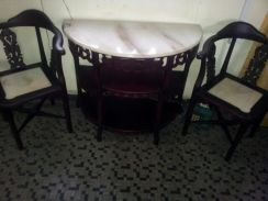 Antique furniture, table and chairs set