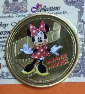 MiNNIE MOUSE 1oz .999 FINE SILVER PLATED GOLD 2017