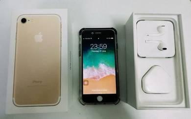 Iphone 7 128GB Gold Fullset Original MYSET