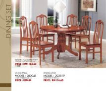 Round Table Dining Set 1+6 DS