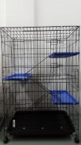 Cat Cage 3 TGK Sangkar Kucing (BIG) Tray Version