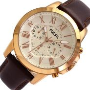 FOSSIL FS4991 Grant Chronograph Brown Leather