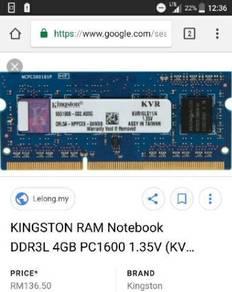 Ram loptop ddr3l