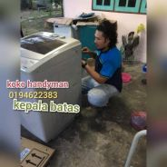 Repair mesin basuh peti ais fridge washing machine