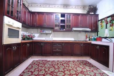 EXTENDED KITCHEN CABINET Double Storey House Sinar Bintang Segambut KL