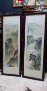 Chinese antique ink painting a pair SLG