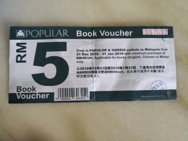 Popular book voucher RM5 x 2