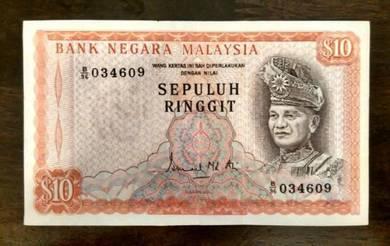 Duit Kertas Sepuluh Ringgit Malaysia - Duit Lama