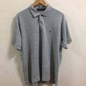 Nautica Polo Shirt Size L gray