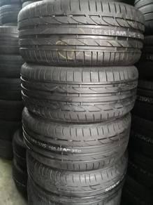 2nd Tyre 245 40 18 BRIDGESTONE S001 RFT 2017 80%