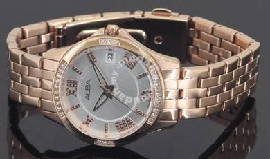 Alba Ladies Swarovski Crystal Watch VJ32-X250RSRGR