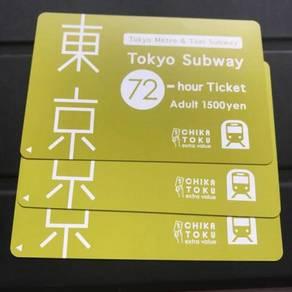 Tokyo subway 72 hours pass