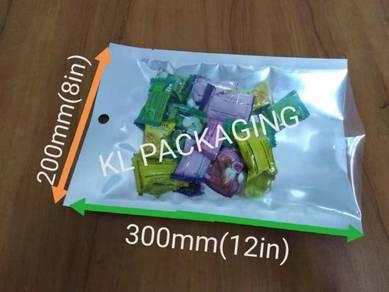 Metallized Plastic Bag 3 side seal 20cmX30cm