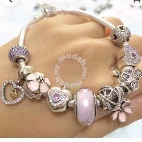 Pandora 14k Princess charm & sweet heart set