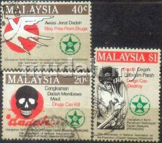 Use-d Stamp Prevention of Drugs Malaysia 1986