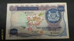 Orchid Series Singapore 100 Dollar