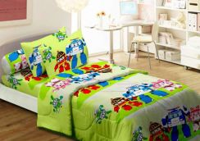 Set Cadar Single Bergetah & Comforter Robocar Poli