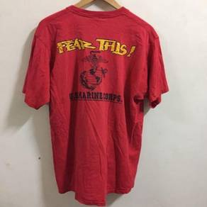 USMC Marines Red Shirt Size L Marines Corporation