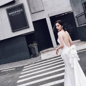 White wedding prom dinner dress RBP0112