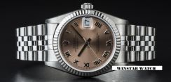 Rolex datejust 68274 stainless steel salmon dial