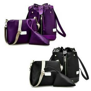 Nylon 3 in 1 Sling Backpack Bag