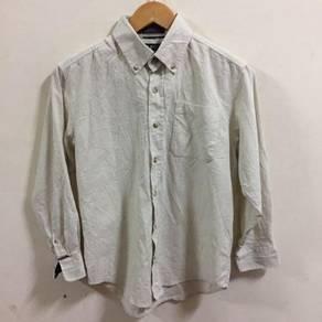 Izod White Corduroy Shirt Size M