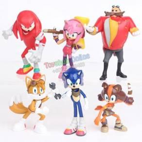Cartoon PVC Figure Cake Topper Collection -6pcs