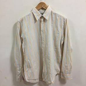 Polo Jeans Company Yellow Striped Shirt Size S