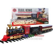 Battery Operated Train Toy with Smoke & Light (c)