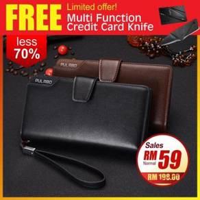 Korean Trend Unisex PU Leather Zipper Long Wallet
