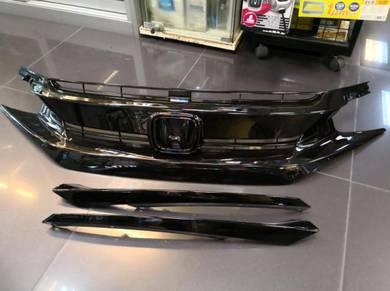 Honda Civic FC RS Grille Full Gloss Black