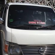 Nissan urvan with driver for rent