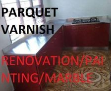 Install Carfet Marble Polish Parquet Painting
