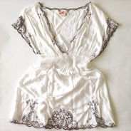 White Romper /w Embroidery